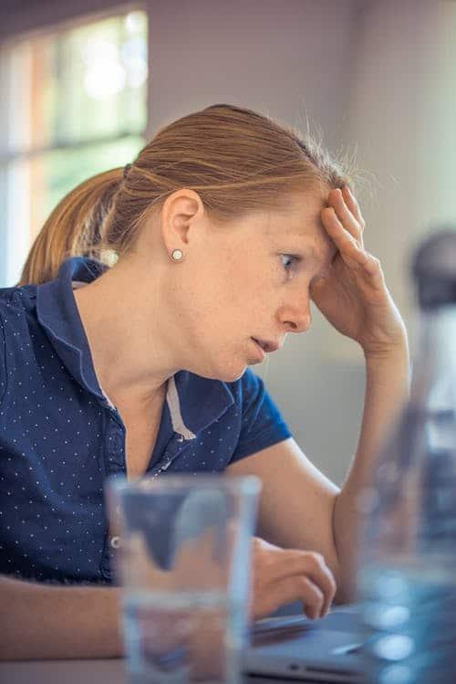stressed college parents