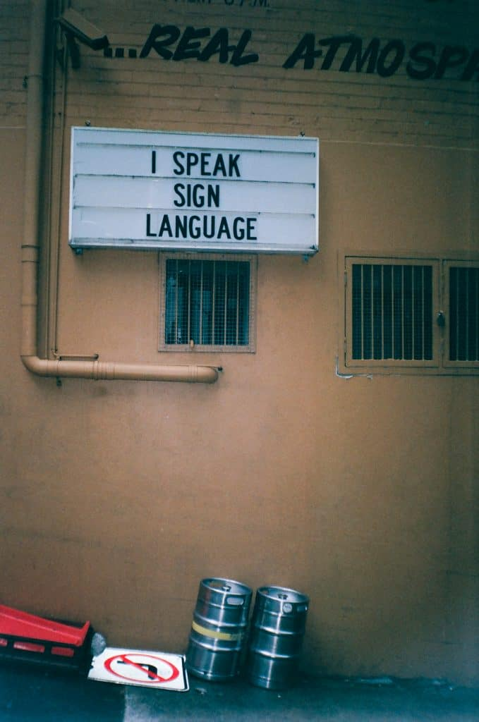 american sign language major