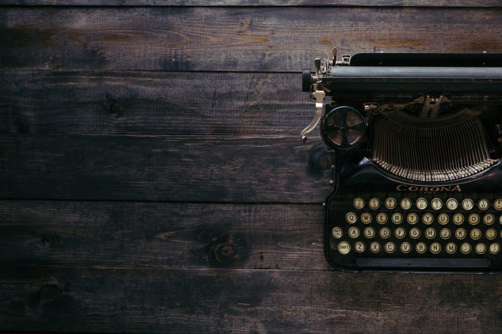 black typewriter image