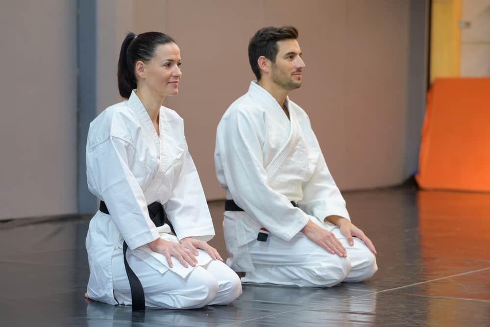 female and male judo apprentices